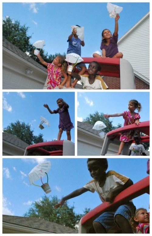 Coffee Filter Parachutes- Kid World Citizen
