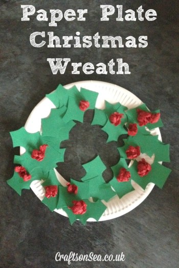 Paper Plate Christmas Wreath- Kid World Citizen