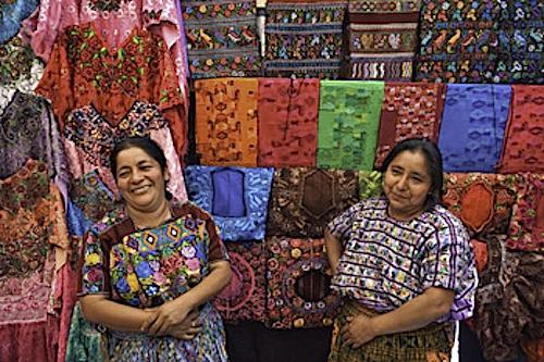 Tecpan, Guatemala --- Mayan women at Textile Market in Tecpan --- Image by © Danny Lehman/Corbis, CC Use