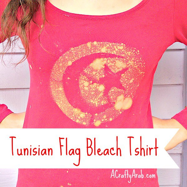 A Crafty Arab Tunisian Flag Bleach Tshirt- Kid World Citizen