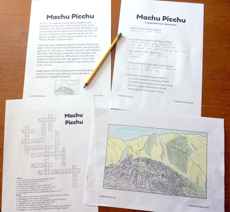 Machu Picchu for Kids Reading- Kid World Citizen