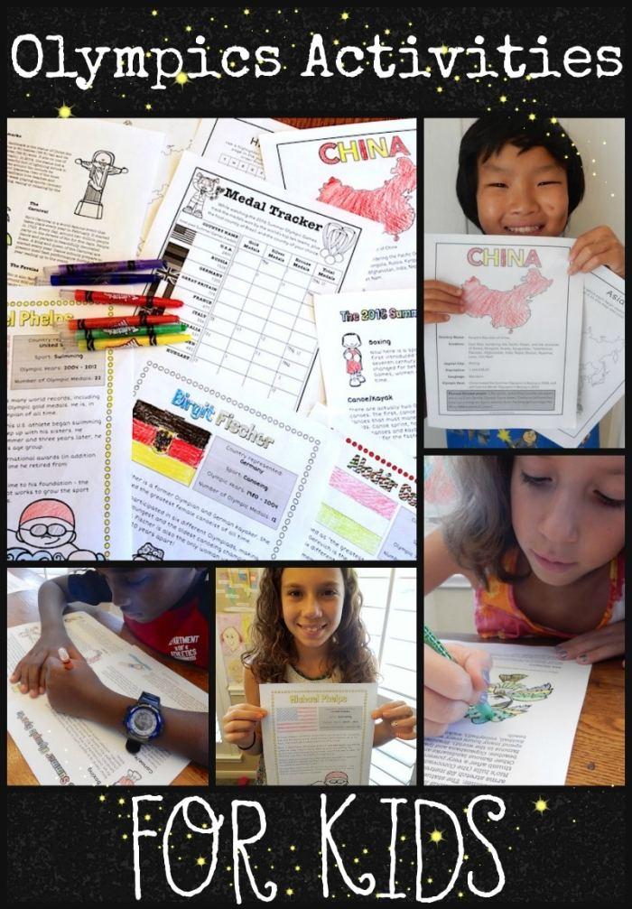 Summer Rio Olympics Activities Packet for Kids- Kid World Citizen