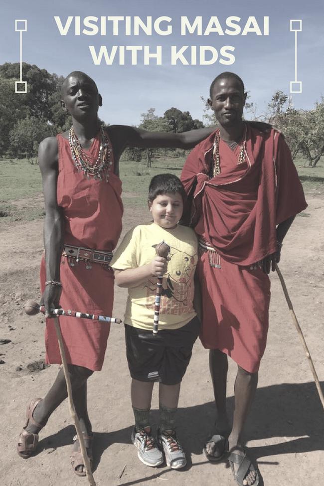 Masai with Kids VIsit Kenya- Kid World Citizen