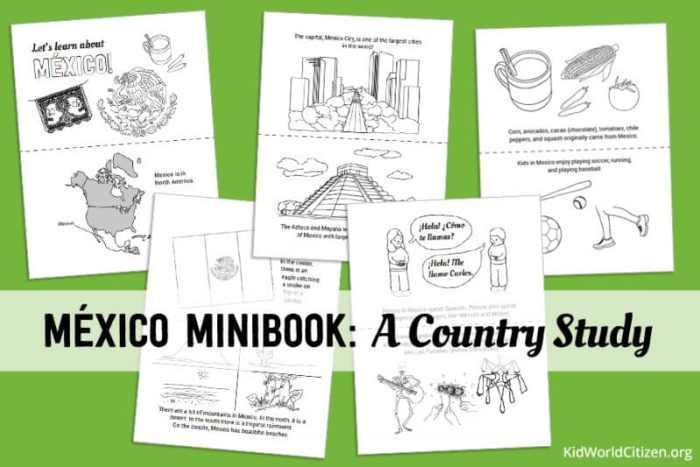 Mexico Minibook Resources for Kids Hispanic Culture Lesson