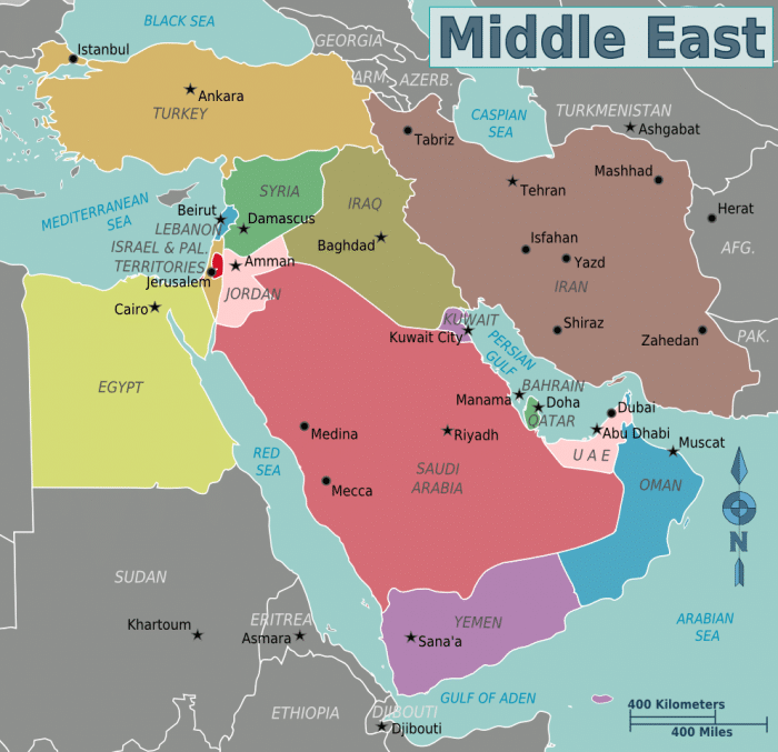 Map of Middle East- Kid World Citizen