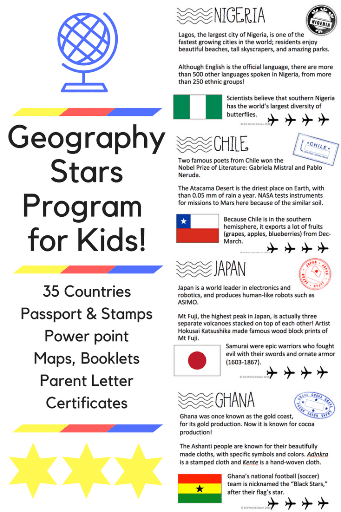 Geography Stars Program for Kids- Kid World Citizen
