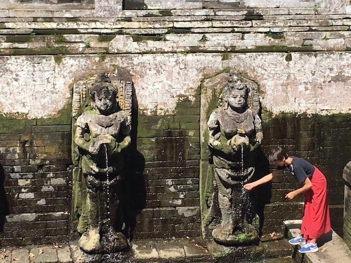 Travel Bali with Kids Statues- Kid World Citizen