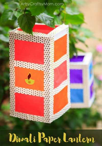 Diwali Paper Lantern DIY Artsy Craftsy Mom- Kid World Citizen