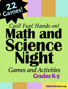 Math and Science Night Cover- Kid World Citizen