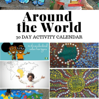Free Download: Around the World in 30 Days Activity Calendar