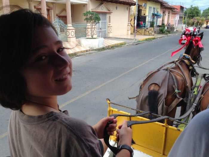 Horse drawn carriage in Granada
