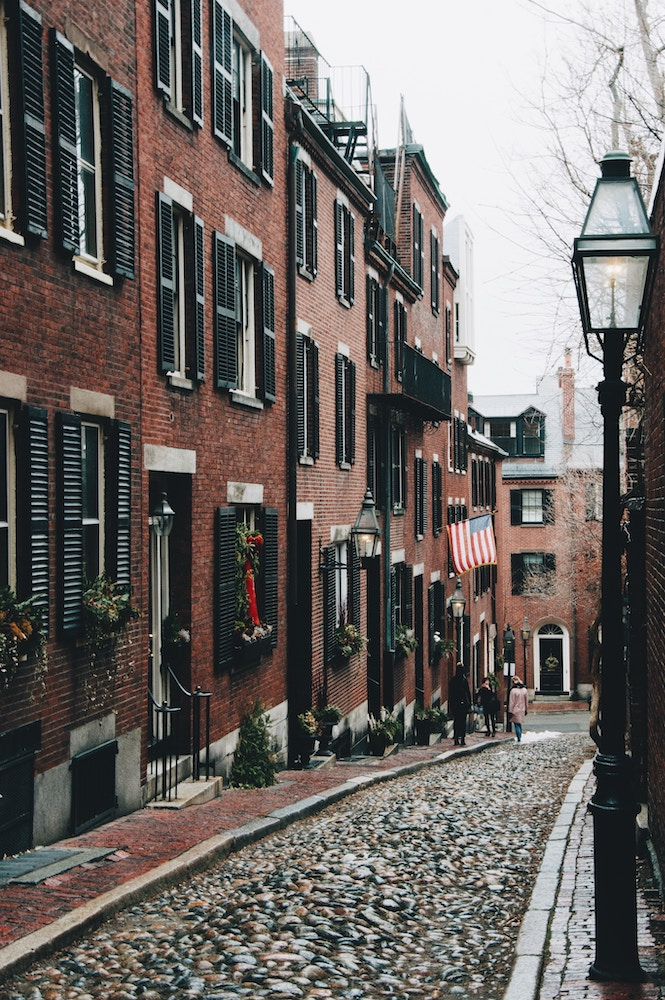 Cobblestone street, Boston