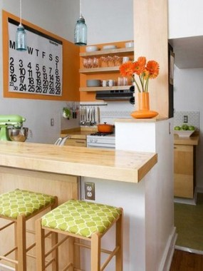 16 Brighten Up Your Home With An Orange Kitchen 17