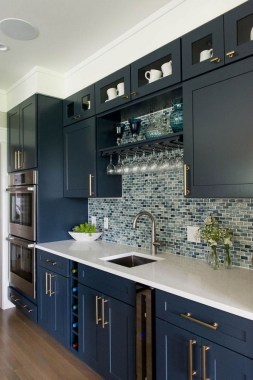 17 Blue Kitchen Cabinet Ideas To Upgrade Your Kitchen Today 07