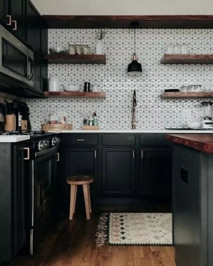 18 Black Kitchen Cabinet Ideas For The Chic Cook 04