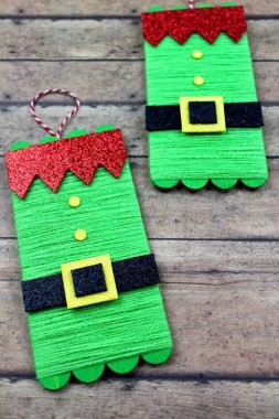 19 Cheap DIY Popsicle Stick Ornament For Christmas Decoration 09
