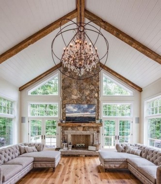 20 Farmhouse Living Rooms That Will Take Your Breath Away 02