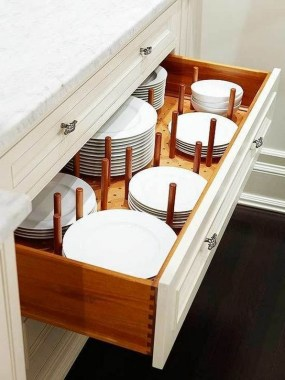 17 DIY Dinnerware Organizer To Display Your Valuable Collection 14