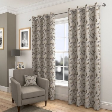 19 Simple Embroidery Curtains For Living Room 03