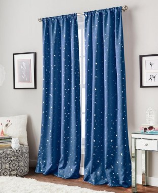19 Simple Embroidery Curtains For Living Room 18
