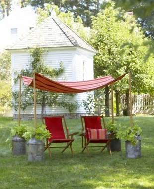 20 DIY Outdoor Sun Shades That Add Color To Your Outdoor Decor 31