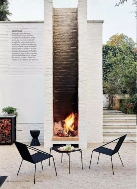 21 Beautiful Outdoor Fireplace Design Ideas 06