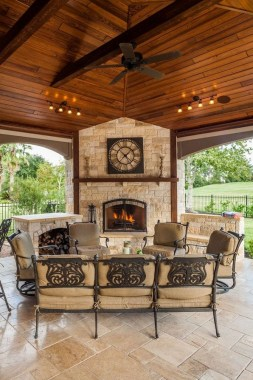 21 Beautiful Outdoor Fireplace Design Ideas 08