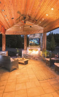 21 Beautiful Outdoor Fireplace Design Ideas 12
