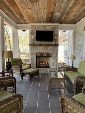 21 Beautiful Outdoor Fireplace Design Ideas 28