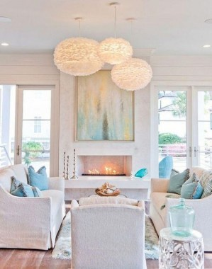 22 Adorable Living Room Decor Ideas With Coastal Touches 04