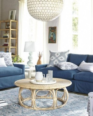 22 Adorable Living Room Decor Ideas With Coastal Touches 13
