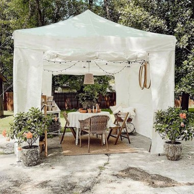 21 Beautiful Outdoor Space With Canopy Designs 12