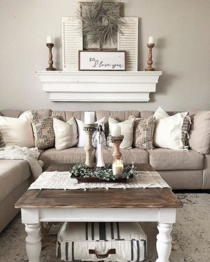 21 Rustic Farmhouse Living Room Decor Ideas 16