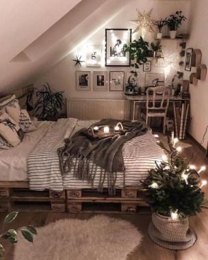 24 Cozy Loft Bedroom Design Ideas For Small Space 20