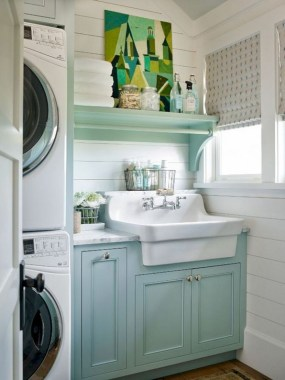 26 Beautiful And Functional Small Laundry Room Design Ideas 22