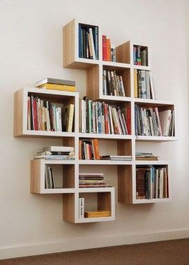 27 DIY Bookshelf Designs From Unused Goods 14