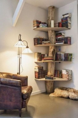27 DIY Bookshelf Designs From Unused Goods 23