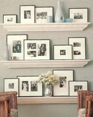 28 Creative Ways To Fill Your Plain Walls By Showing Off Your Mini Photo Collections 28