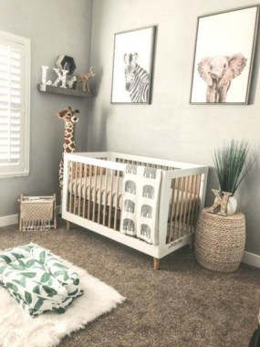 28 Unique Baby Boy Nursery Room With Animal Design 11
