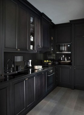 30 Stylish Black Kitchen Cabinets That Instantly Upgrade Your Kitchen Look 17