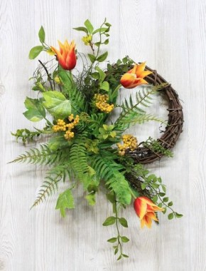 33 Beautiful Spring Wreath To Make It Yourself At Home 11