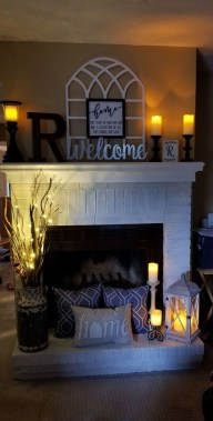 36 Beautiful Fireplace Decorating Ideas To Copy For Your Own 15