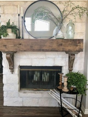 36 Beautiful Fireplace Decorating Ideas To Copy For Your Own 35