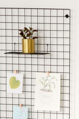 37 Best DIY Decor Ideas For Your Home Using Wire Wall Grid 09
