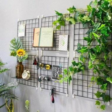 37 Best DIY Decor Ideas For Your Home Using Wire Wall Grid 32