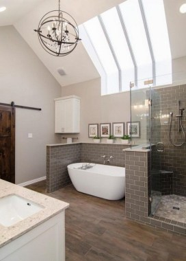 42 Contemporary Lighting Ideas For Your Bathroom Using Chandelier 30