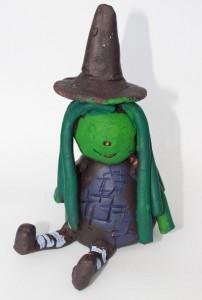 Witch Ceramic Sculpture