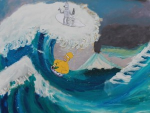 The Wave Meets Groening