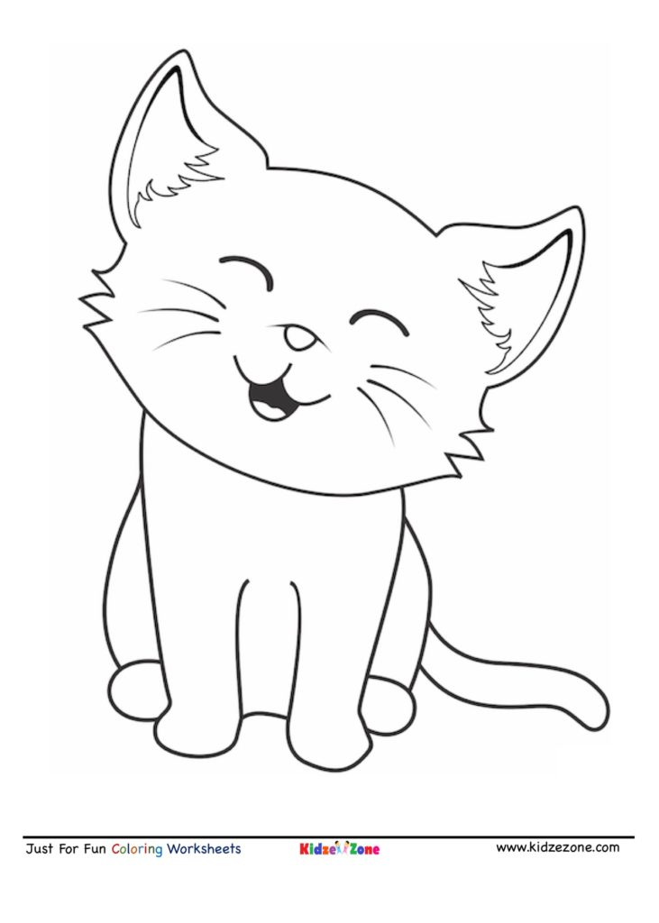 Cute Cartoon Coloring Pages : cartoon, coloring, pages, Cartoon, Coloring, KidzeZone