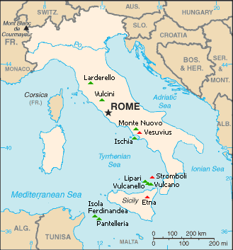Mount Vesuvius Map